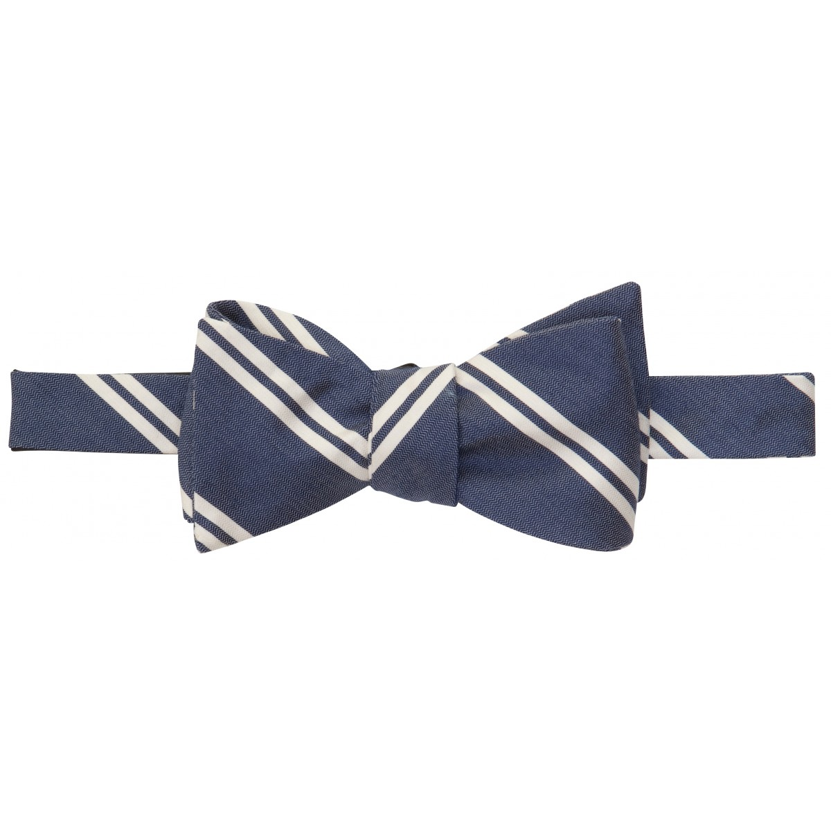 Double Bar Bow: Navy and White